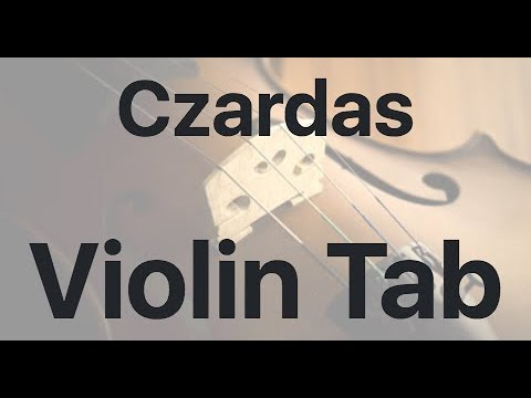 Learn Czardas on Violin - How to Play Tutorial