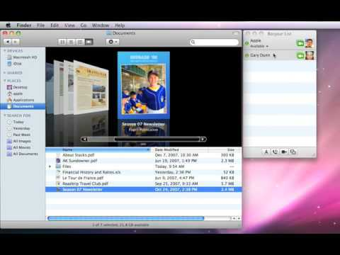 Apple Quick Tips: iChat Bonjour File Transfer