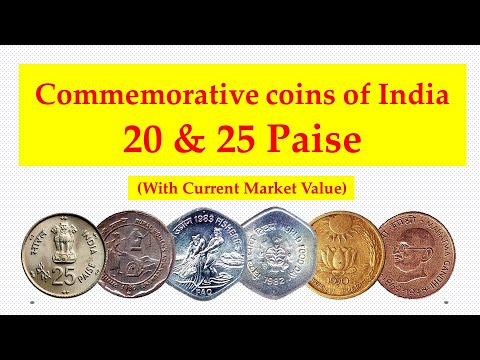 Commemorative coins of India with current market value - 20 & 25 Paise