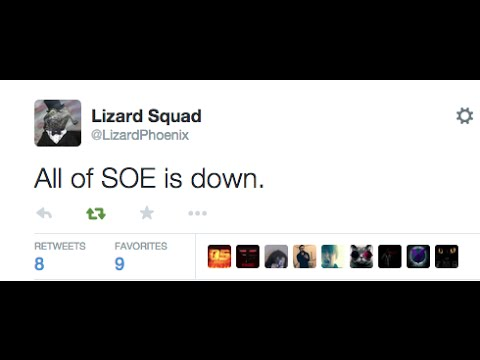 Sony Online Entertainment DDOS Attacked By Lizard Squad- EA, Planetside 2 & More Down!