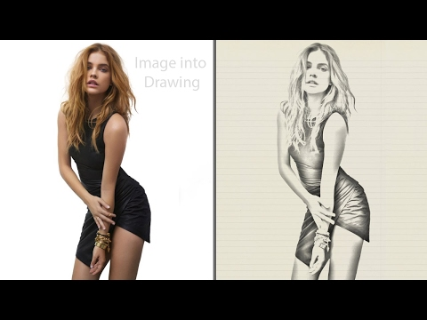 Image into Drawing using Photoshop CC 2017