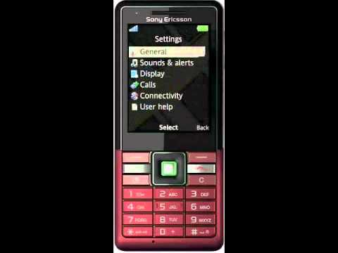 Sony Ericsson Naite- changing phone language.wmv