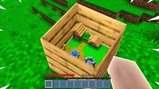 Minecraft But You Can BUILD HOUSE Inside ANY BLOCK