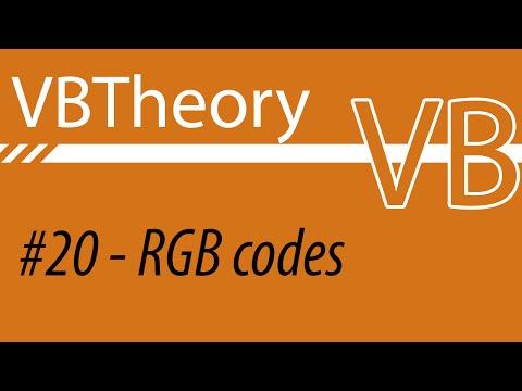 RGB Codes - VB#20