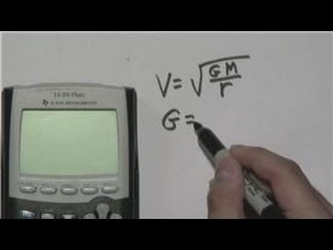 Mathematics : How to Calculate Orbital Velocity