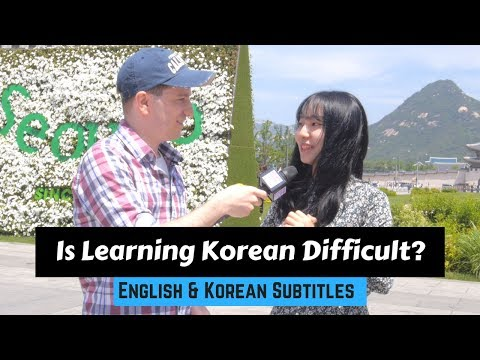How Hard Is It to Learn Korean?   한국어가 배우기 어려운 이유