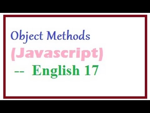 How to Create Object Methods in Javascript  --  English 17-vlr training