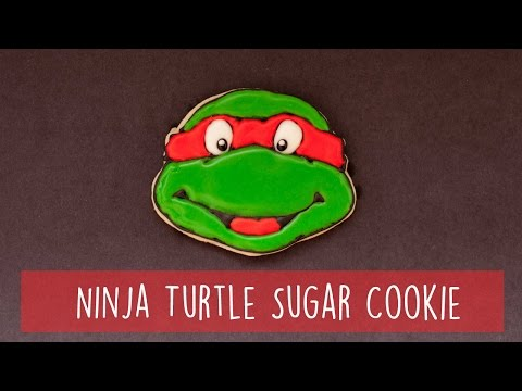 Ninja Turtle Sugar Cookie (Timelapse)
