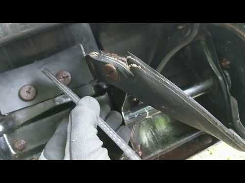 Auger paddle replacement on a Honda HS520