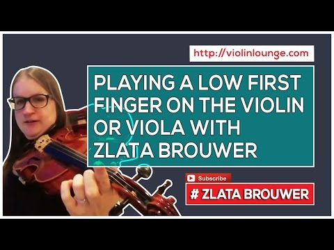 How to Play a Low First Finger on the Violin or Viola (ie B flat)