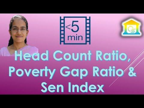 Head Count Ratio, Poverty Gap Ratio & Sen Index (Economics - 4 Tools to Measure Poverty)