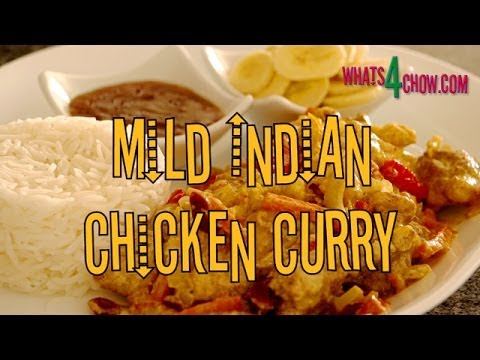 Mild Indian Chicken Curry. Chicken curry with a little heat, a little sweet, and creamy yogurt.