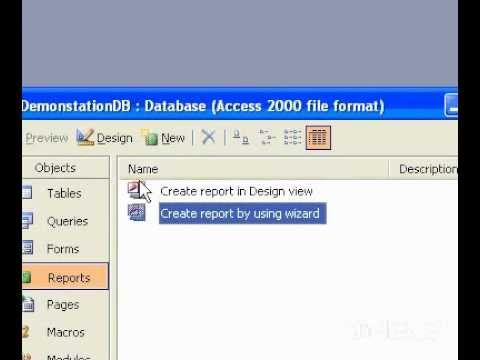 Microsoft Office Access 2003 Open a table