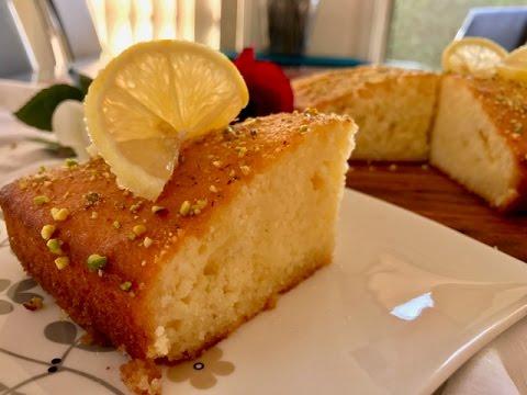 Delicious Lemon Syrup Cake recipe, Lemon Cake Video, Afghan Dessert Recipe, Super Soft Cake