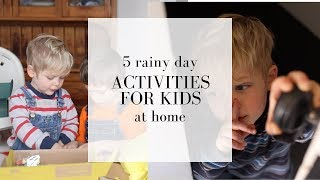 Download 5 Rainy Day Activities for Kids Video