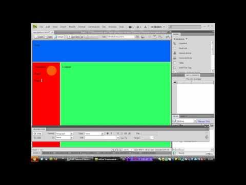 How to make a basic website in adobe dreamweaver cs4