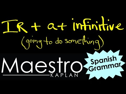 IR + a + infinitive SAYING WHAT YOU ARE GOING TO DO