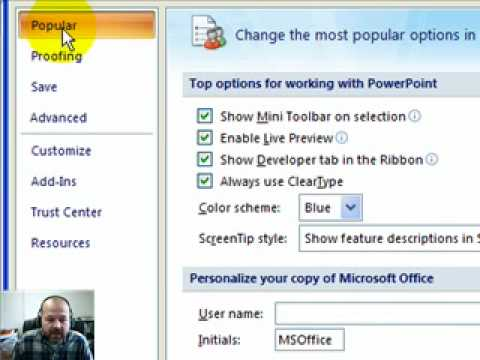 Embed YouTube Movie into PowerPoint 2007