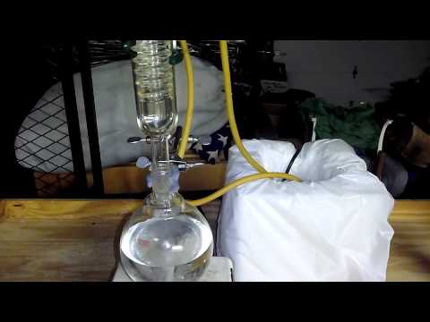 Solvent Purification: Hexanes