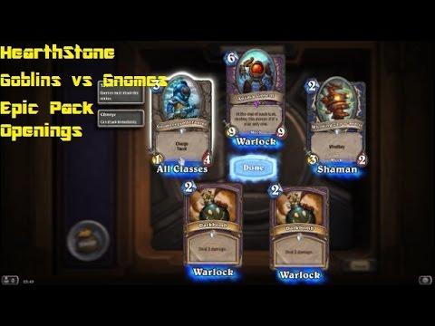 Hearthstone Goblins vs Gnomes Epic Pack Openings