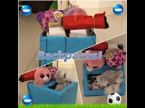 DIY #2how to make beanie boo backpack