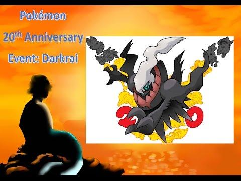 Pokémon 20th Anniversary Event: Darkrai (All Codes Gone)