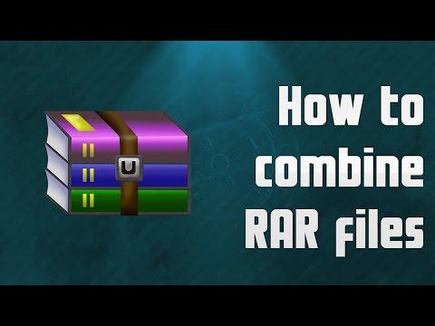 How to combine RAR files