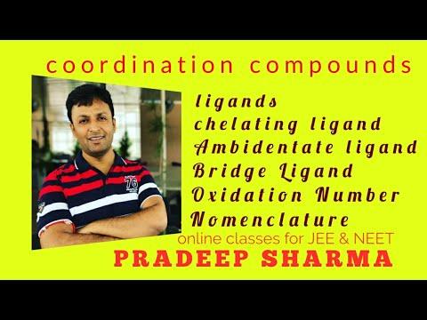 Ligands, Oxidation number ,Nomenclature of coordinate compounds.