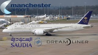 Inaugural Saudia Boeing 787-9 Service to Manchester Airport | APR 3 2016