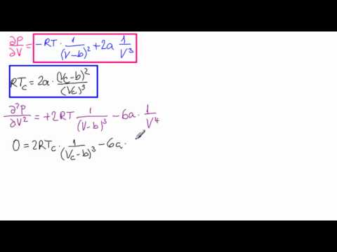 Critical Point with Van der Waal's Equation
