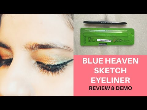 BLUE HEAVEN SKETCH EYELINER REVIEW,SWATCH & DEMO||BEST AFFORDABLE EYELINER UNDER ₹225/-||EKTA NIGAM