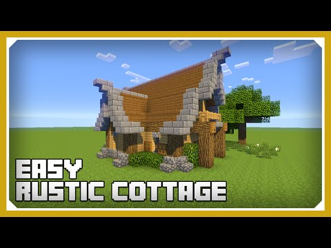 Minecraft: How To Build A Small Rustic Cottage Tutorial (Easy Survival Minecraft House )