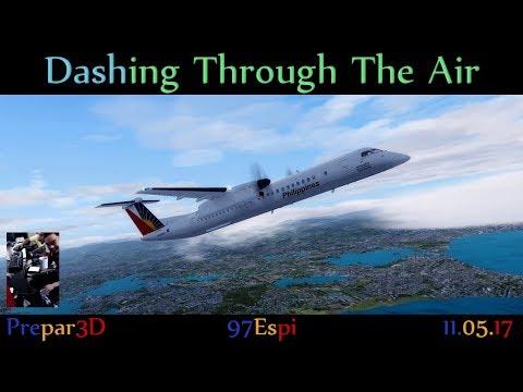 P3D Flight + Co-Pilot & ATC Cebu to Tacloban [1080p] PAL Express DH8D