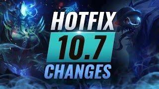 MASSIVE HOTFIX CHANGES: Fiddlesticks EMERGENCY Buffs in Patch 10.7 - League of Legends Season 10
