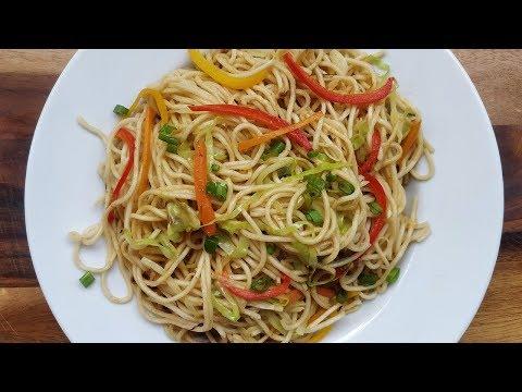 करारी चाऊमीन बनाने का नुस्खा   Crispy Sizzling Chowmein   Noodles Recipe  @ Aapki Rasoi