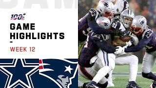 Cowboys vs. Patriots Week 12 Highlights | NFL 2019