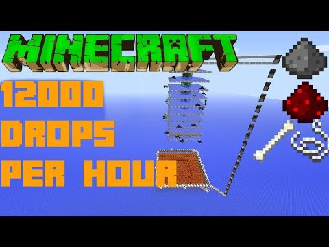Minecraft Simple 12K Drops Per Hour ULTIMATE HOSTILE MOB FARM Tutorial Xbox Ps4 PC PE Wii