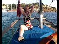 Amputee Julia on a boat trip ! Final sale !