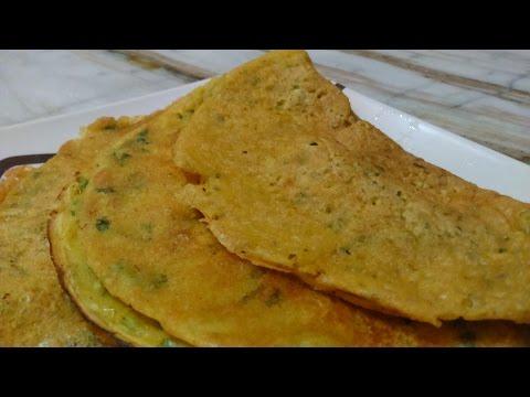 EGG LESS SAVOURY Crepes - BESAN CHILLA ( VEG. omelette/Vegan / Eggless Recipe)