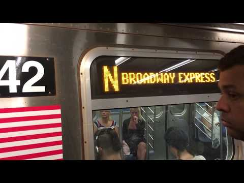 On-Board a Ditmars Blvd bound R160B Alstom (N) Train from 57th St-7th Ave to Astoria-Ditmars Blvd