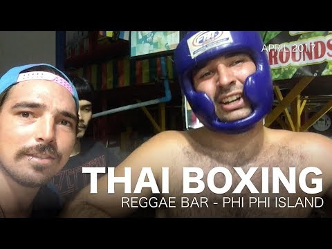 Thai boxing - Muay Thai fight Reggae bar 2017 - Phi Phi Island