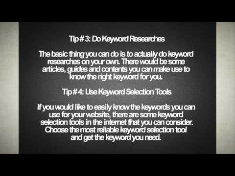 5 Tips in Choosing Keywords for SEO