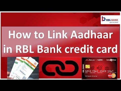 How to Link aadhaar number in RBL Bank credit card