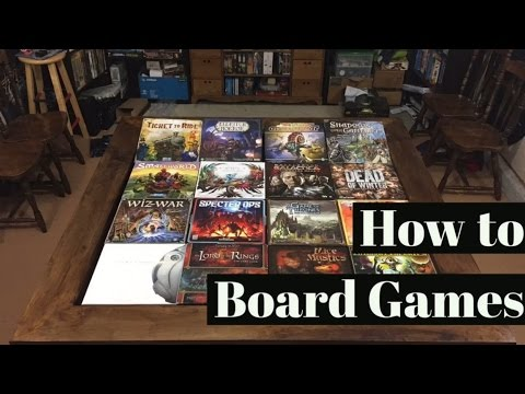 How to Board Games: component organization