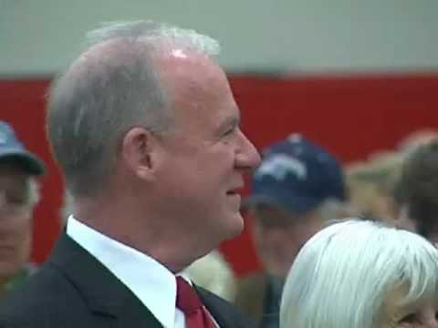 HARWICH, MA- Sentatorial Candidate Jeff Beatty Voting on Election Day (11