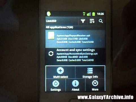 How to increase internal memory of Samsung Galaxy Y