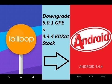 Moto G: Downgrade de Lollipop 5.0.1 GPE a KitKat 4.4.4 Stock de Motorola.