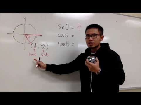 Exact values of trig functions from the unit circle, ex1