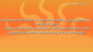 Intro Song Videos 9videostv