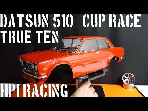 HPI racing DATSUN 510 true ten - cup racer body